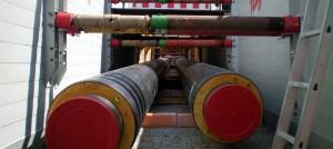 rohrleitung, rohre, kunststoffmantelrohrverlegung